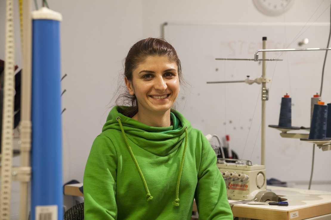 Porträt über gehörlose wasni-Mitarbeiterin