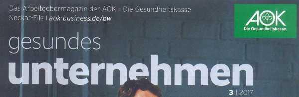 AOK berichtet über Inklusionsunternehmen wasni und seine Textilmanufaktur in Esslingen