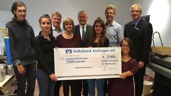 Textilunternehmen wasni gewinnt Esslinger Inklusionspreis