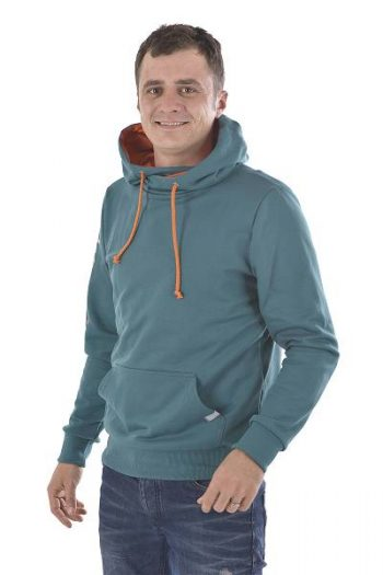 Hoodie mit Schalkragen GOTS made in Germany