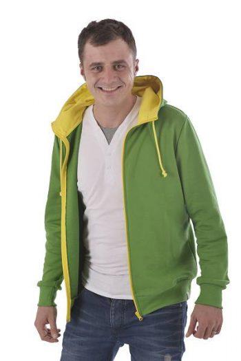 Hoodie mit Zipper hochgeschlossen fair