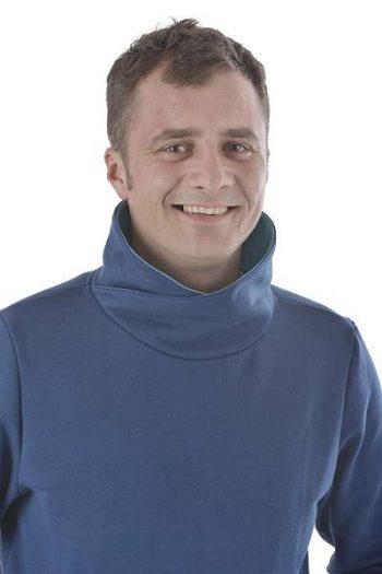 Sweater mit Schalkragen organic cotton