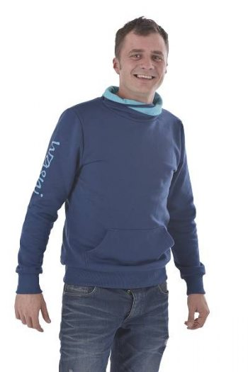Sweatshirt mit Schalkragen fairer Handel bio