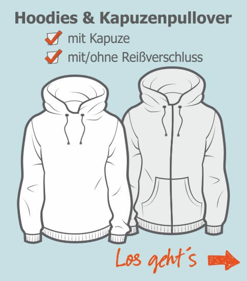 Shop Konfigurator Hoodies Kapuzenpullover