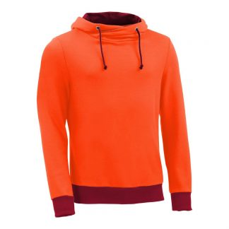 Kapuzenpullover mit Schalkragen_fairtrade_orange_DUZGS1_front