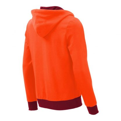 Kapuzenpullover mit Schalkragen_fairtrade_orange_DUZGS1_rueck