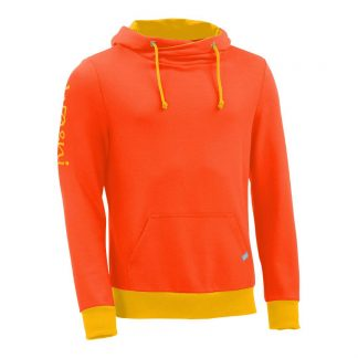 Kapuzenpullover mit Schalkragen_fairtrade_orange_RTEBBL_front