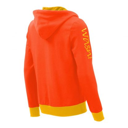 Kapuzenpullover mit Schalkragen_fairtrade_orange_RTEBBL_rueck