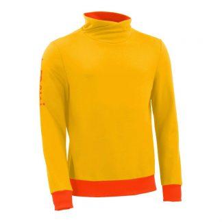 Pullover mit Schalkragen_fairtrade_gelb_2EVAFK_front