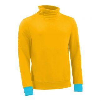 Pullover mit Schalkragen_fairtrade_gelb_WEQ65Z_front
