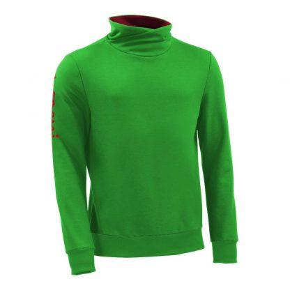 Pullover mit Schalkragen_fairtrade_gruen_XEJ2AC_front
