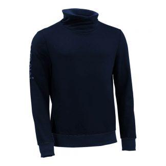 Pullover mit Schalkragen_fairtrade_marineblau_02I0OP_front