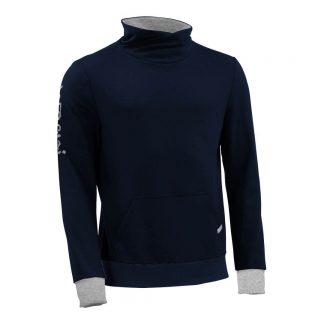 Pullover mit Schalkragen_fairtrade_marineblau_6A5DED_front