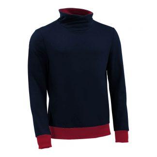 Pullover mit Schalkragen_fairtrade_marineblau_6HHYG4_front