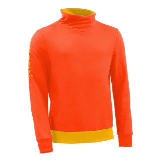 Pullover mit Schalkragen_fairtrade_orange_JDKN8K_front