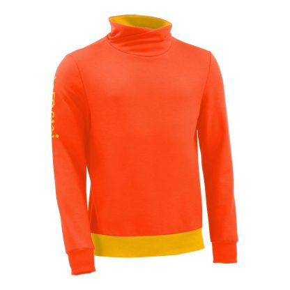 Pullover mit Schalkragen_fairtrade_orange_JDKN8K_front