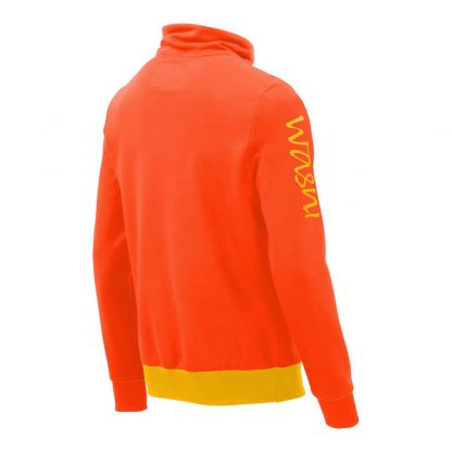 Pullover mit Schalkragen_fairtrade_orange_JDKN8K_rueck