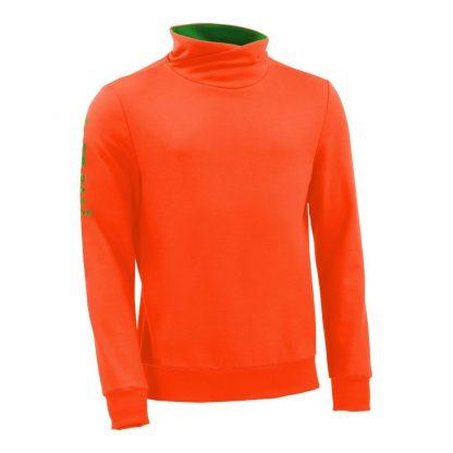 Pullover mit Schalkragen_fairtrade_orange_KVZL3X_front