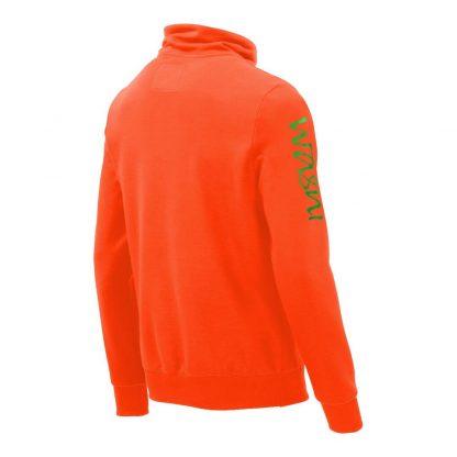 Pullover mit Schalkragen_fairtrade_orange_KVZL3X_rueck