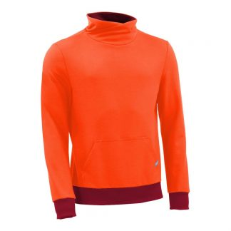 Pullover mit Schalkragen_fairtrade_orange_RRC7C3_front