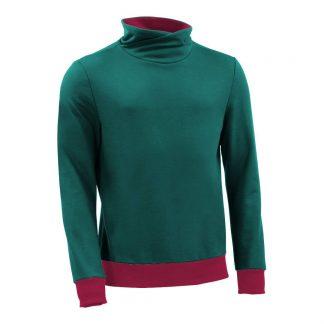 Pullover mit Schalkragen_fairtrade_petrol_HT569L_front