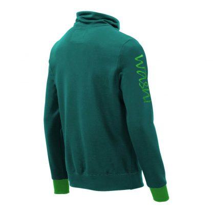 Pullover mit Schalkragen_fairtrade_petrol_PC3IT3_rueck