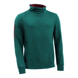 Pullover mit Schalkragen_fairtrade_petrol_PDOTMA_front