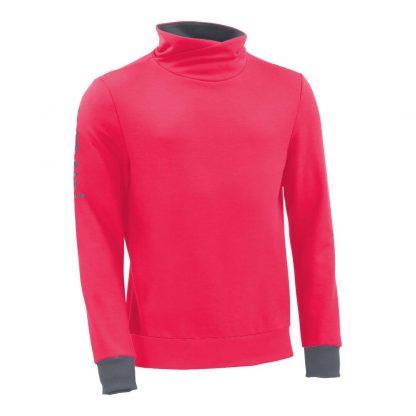 Pullover mit Schalkragen_fairtrade_pink_0UUFA5_front