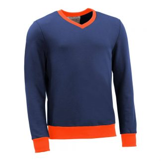 Pullover mit V-Ausschnitt_fairtrade_blau_314EKH_front