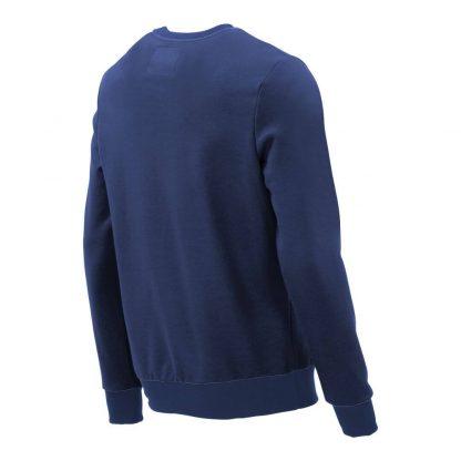 Pullover mit V-Ausschnitt_fairtrade_blau_8PB8C3_rueck