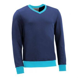 Pullover mit V-Ausschnitt_fairtrade_blau_TNKPCQ_front