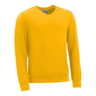 Pullover mit V-Ausschnitt_fairtrade_gelb_0FB03P_front