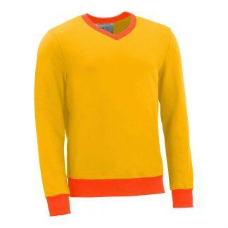 Pullover mit V-Ausschnitt_fairtrade_gelb_GVEN5L_front