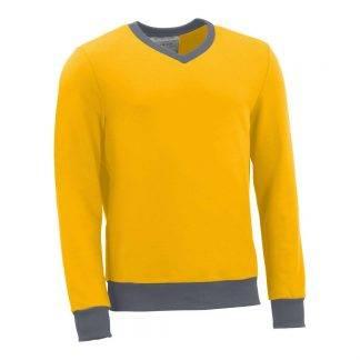 Pullover mit V-Ausschnitt_fairtrade_gelb_J50N5Z_front