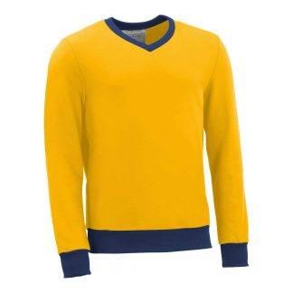 Pullover mit V-Ausschnitt_fairtrade_gelb_S3BA3V_front