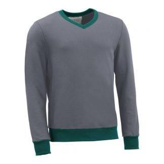 Pullover mit V-Ausschnitt_fairtrade_grau_0AG509_front