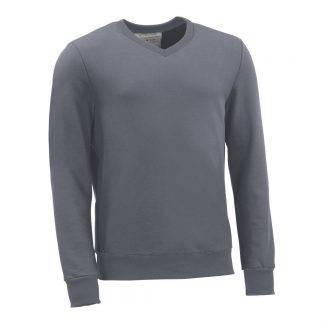 Pullover mit V-Ausschnitt_fairtrade_grau_0E31XU_front