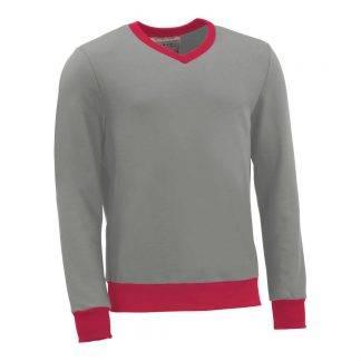 Pullover mit V-Ausschnitt_fairtrade_grau_4I2ASJ_front