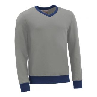 Pullover mit V-Ausschnitt_fairtrade_grau_7GWC1J_front