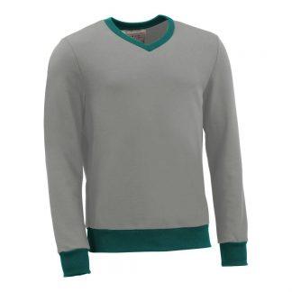 Pullover mit V-Ausschnitt_fairtrade_grau_9NNM8X_front