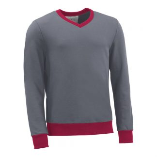 Pullover mit V-Ausschnitt_fairtrade_grau_C1ADFT_front