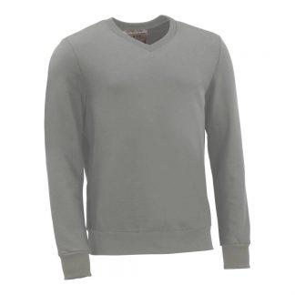 Pullover mit V-Ausschnitt_fairtrade_grau_OACKHL_front