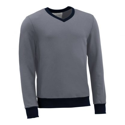 Pullover mit V-Ausschnitt_fairtrade_grau_WNKHSQ_front
