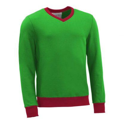 Pullover mit V-Ausschnitt_fairtrade_gruen_ED713C_front