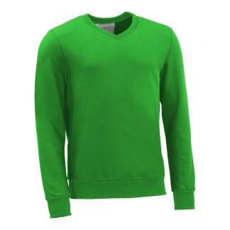 Pullover mit V-Ausschnitt_fairtrade_gruen_GLNMHY_front