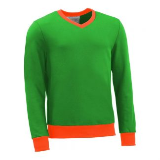 Pullover mit V-Ausschnitt_fairtrade_gruen_P59VI3_front