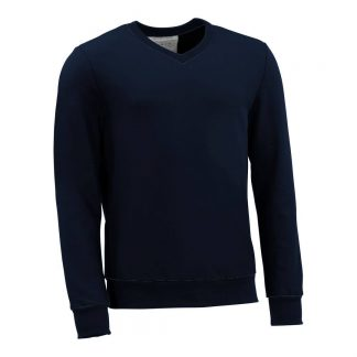 Pullover mit V-Ausschnitt_fairtrade_marineblau_DSE56I_front
