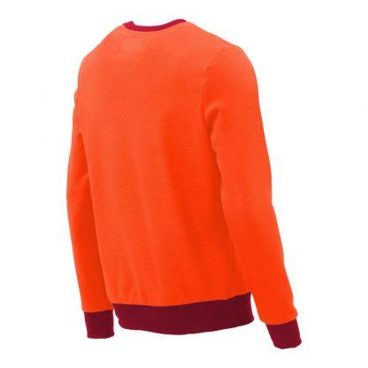 Pullover mit V-Ausschnitt_fairtrade_orange_7DDFKU_rueck