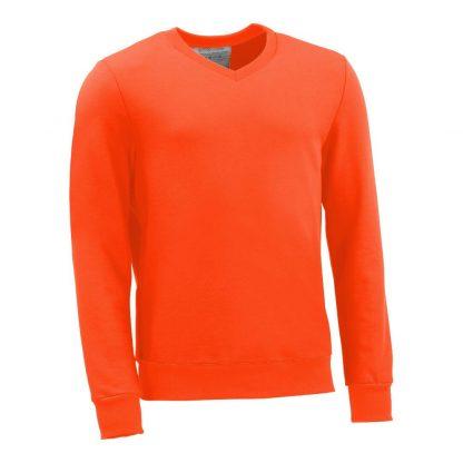 Pullover mit V-Ausschnitt_fairtrade_orange_EWWEPY_front
