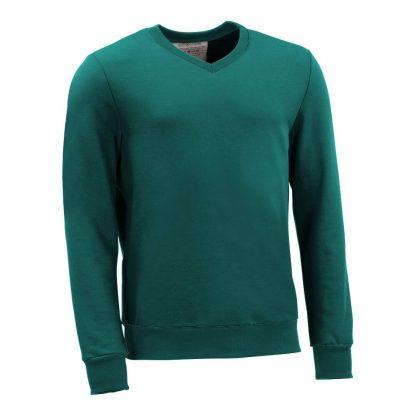 Pullover mit V-Ausschnitt_fairtrade_petrol_SS63MI_front